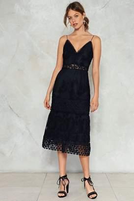 Nasty Gal Gold Dust Woman Crochet Dress