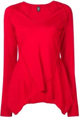 Eleventy flared-hem sweater
