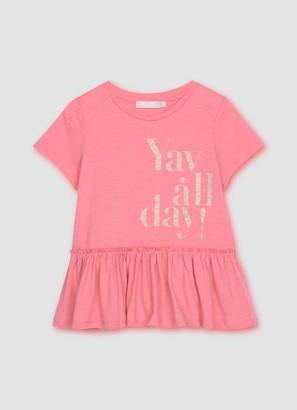 Mint Velvet Pink Yay All Day Motif T-Shirt