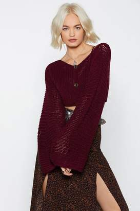 Nasty Gal Cropped Button Down Micro Cardigan