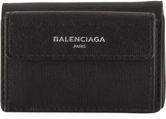Balenciaga Essential Mini Leather Flap Wallet