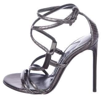 Tom Ford Snakeskin Ankle Strap Sandals