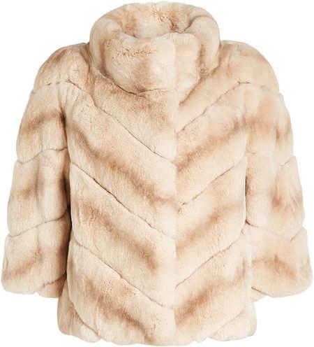 Yves Salomon Rabbit Fur Jacket