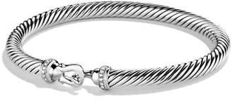 David Yurman Cable Buckle Bracelet with Diamonds, 5mm