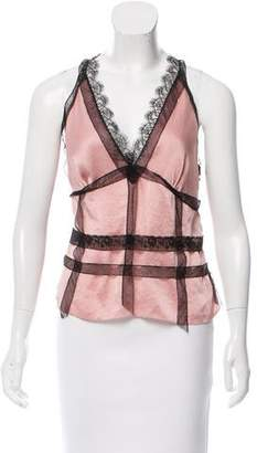 Nina Ricci Sleeveless Lace-Accented Top w/ Tags