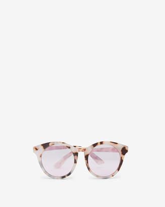 Express Lavender Lens Tortoiseshell Cay Eye Sunglasses
