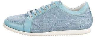 Versace Embroidered Low-Top Sneakers