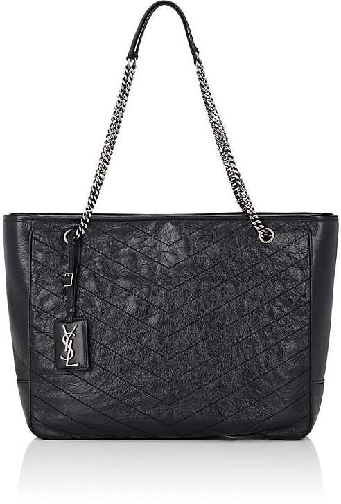 Saint Laurent Women's Niki Large Leather Shopping Bag