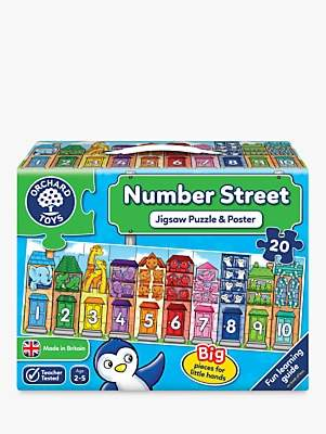 Orchard Toys Number Street Jigsaw Puzzle and Poster