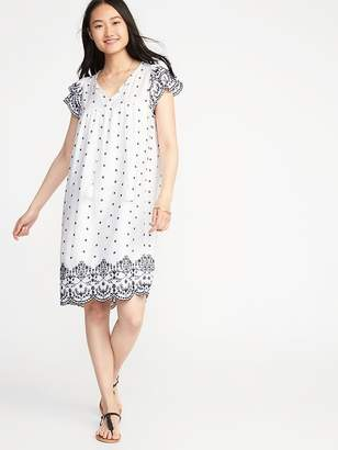 Old Navy Tassel-Tie Flutter-Sleeve Shift Dress for Women