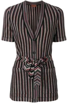 Missoni striped shortsleeved cardigan