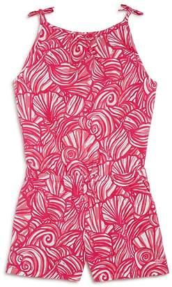 Vineyard Vines Girls' Nautilus Shell-Print Knit Romper - Big Kid, Little Kid