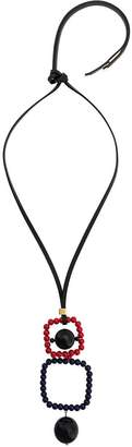 Marni beaded pendant necklace
