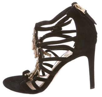 Brian Atwood Embellished Caged Sandals
