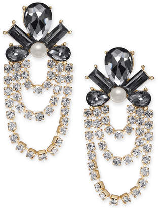 INC International Concepts I.n.c. Gold-Tone Crystal, Stone & Imitation Pearl Chandelier Earrings