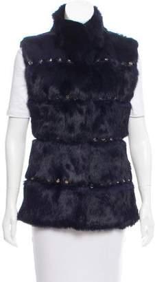 Glamour Puss Glamourpuss Embellished Fur Vest w/ Tags
