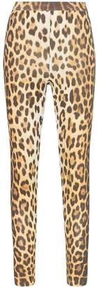 Moschino leopard print high-waisted leggings