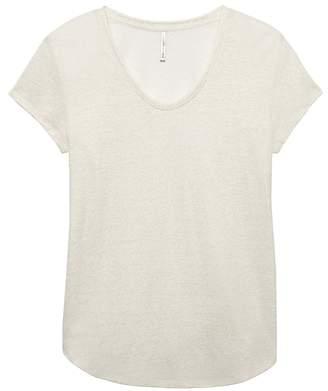 Banana Republic Linen-Blend Scoop-Neck T-Shirt
