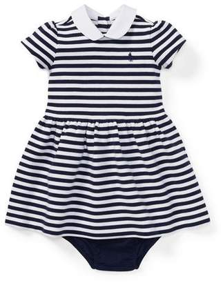 Ralph Lauren Textured Stripe Dress w/ Bloomers, Size 6-24 Months