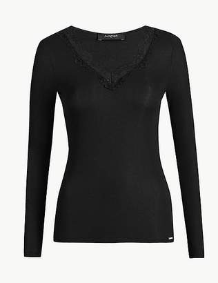 Marks and Spencer Thermal Long Sleeve Top with Silk