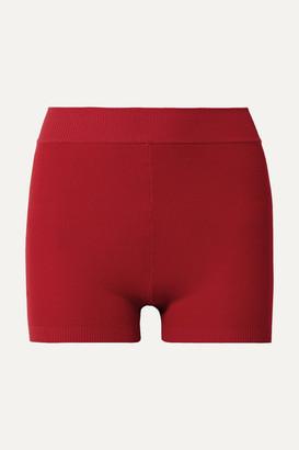 Nagnata - Yoni Technical-knit Stretch-cotton Shorts - Red