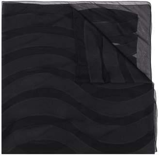 Emporio Armani wave pattern scarf