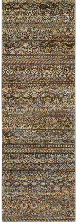 "Couristan Couristan Runner Rug, Taylor Capella Brown-Multi 2'7"" x 7'10"""