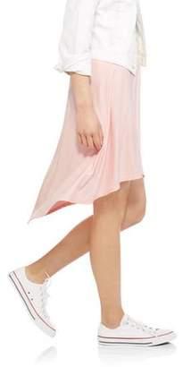 No Boundaries Juniors' Sueded Jersey Hi-Lo Skirt