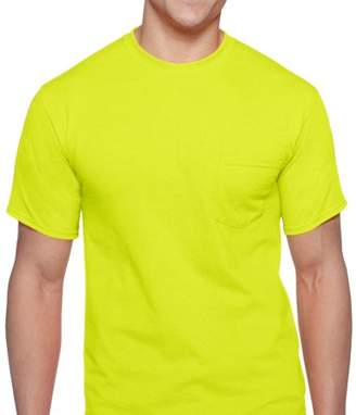 Gildan Big Men's Workwear Short Sleeve High Visibility Crew, 2-Pack