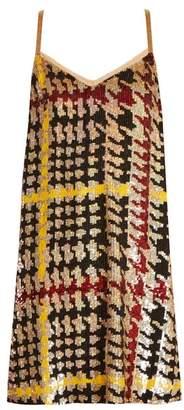 Ashish Houndstooth Sequin Embellished Mini Dress - Womens - Multi
