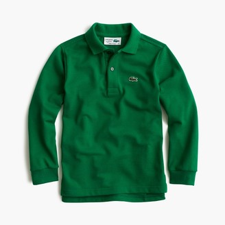 Kids' Lacoste® for J.Crew long-sleeve polo shirt $65 thestylecure.com