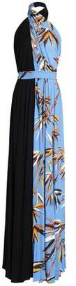 Emilio Pucci Printed Jersey Halterneck Gown