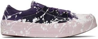 Needles Purple and Pink Paint Asymmetric Ghillie Sneakers