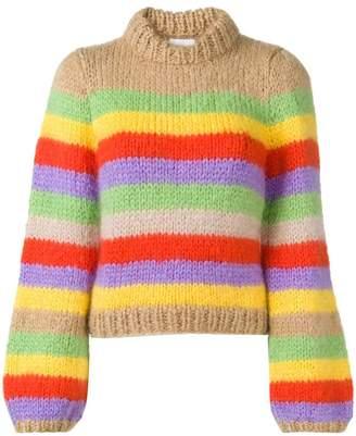 Ganni striped jumper