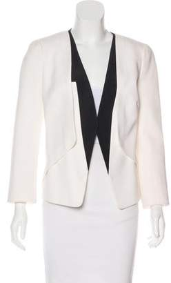 Narciso Rodriguez Colorblock Collarless Jacket