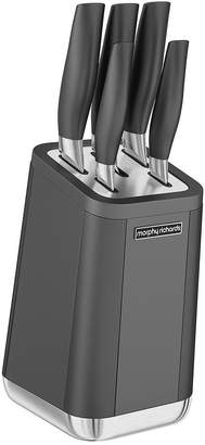 Morphy Richards Aspect 5-Piece Knife Block Set – Titanium