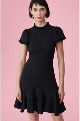Rebecca Taylor Tweed Dress With Chiffon