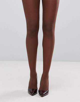 Asos DESIGN 15 denier nude tights in umber