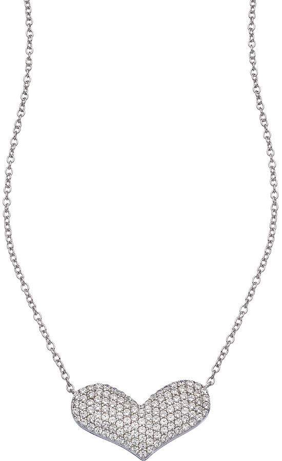 Lafonn Puffy Heart Pendant Necklace