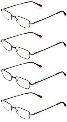 Foster Grant Women's Four Pack Readers ARD15.COM Rectangular Reading Glasses