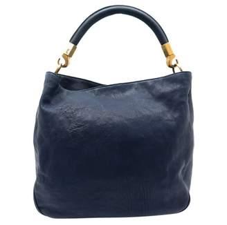 Saint Laurent Roady Navy Leather Handbag