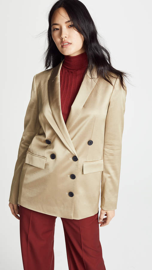 Grey Gold Shine Suiting Jacket