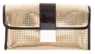 Just Cavalli Metallic Laser-Cut Clutch