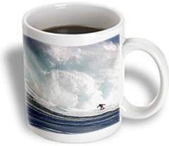 3dRose A tow-in surfer drops to the curl of Hawaiis big surf at Peahi (Jaws) off Maui, Ceramic Mug, 15-ounce