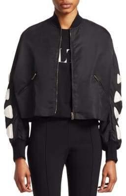 Valentino Bow Sleeve Bomber Jacket
