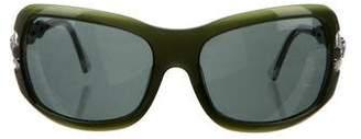 Versace Embellished Square Sunglasses