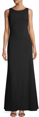Karl Lagerfeld Paris Sleeveless Contrast Cowl Back Gown