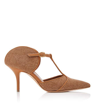 Malone Souliers by Roy Luwolt Imogen Linen And Leather Pumps