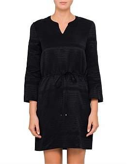 BOSS ORANGE Aseta1 10205005 01 Tie Waist Silk Dress
