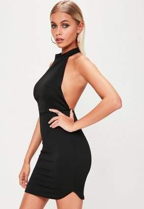 Missguided Black Halterneck Backless Bodycon Dress